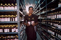 India, Kerala, Drugs stock at ayurvédic Chemist´