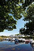 The harbour at Cushendun village Glens of Antrim Northern Ireland