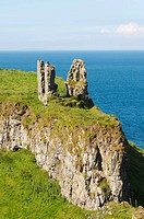 Dunseverick Castle is situated in County Antrim, Northern Ireland, near the small village of Dunseverick and the Giant's Causeway