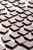 Close_up of square shape pieces of chocolate