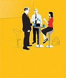 Businesspeople on coffee break