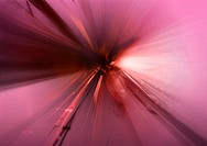 Abstract image of purple lines converging