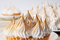 Close_up of meringue pies