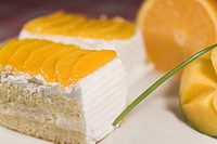 Close_up of mango pastries