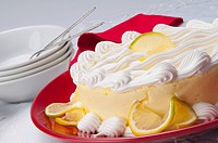 Close_up of a lemon meringue pie