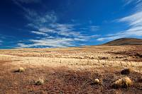 Patagonian landscape off of RN 40, central Chubut, Chubut Province, Patagonia, Argentina