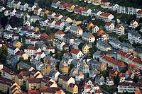 City view from mount Floyen, Bergen, Norway