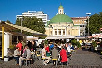 Finland, Turku, Kauppatori, the market square with Ortodoksinen kirkko