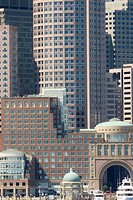 modern Boston from Long Wharf vertical