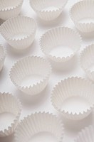 Close_up of cupcake molds