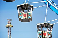 Detail of Ferris wheel wagons at Oktoberfest, Munich, Germany (thumbnail)