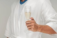 Man holding a champagne flute