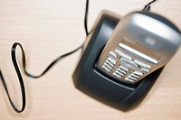 Overhead view of phone on base station