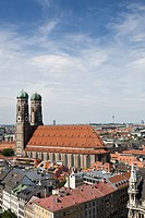 View of Munich Cathedral, Munich, Bavaria, Germany