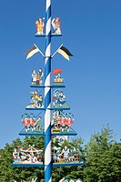 Maypole Viktualienmarkt, Munich, Bavaria, Germany