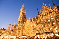 Christmas Market in Marienplatz, Munich, Germany