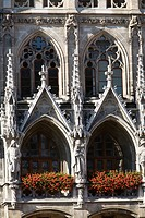 Detail of town hall, Munich, Bavaria, Germany