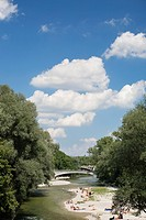 River Isar, Munich, Bavaria, Germany