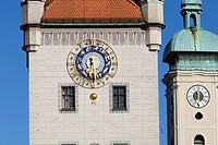 Old town hall clock tower, Munich, Bavaria, Germany