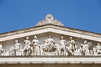 Roof of Glyptothek museum, Koenigsplatz, Munich, Bavaria, Germany