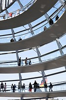Visitors in Reichstag Dome, Berlin, Germany
