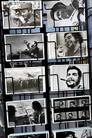 Che Chevara and Fidel Castro postcards, Havana, Cuba