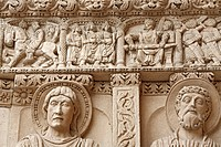 Bas_reliefs on portal of the Saint Trophimus cathedral 1170_1180, Arles, Provence, France