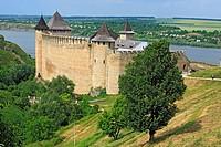 Khotyn fortress 1325_1460, Dniester river, Chernivtsi Oblast province, Ukraine