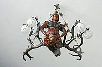Art deco chandelier, Perenyi castle 19 cent., Chinadievo, Zakarpattia Oblast Transcarpathian Oblast, Transcarpathia, Zakarpattya, Subcarpathian Rus, U...