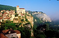 France, Lot, Lot Valley, Saint Cirq Lapopie Village, Labelled Les Plus Beaux Villages de France The Most Beautiful Villages of France