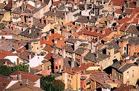 France, Rhone, Lyon, roofs of the old city