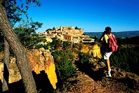 France, Vaucluse, Luberon, Roussillon, labelled Les Plus Beaux Villages de France The Most Beautiful Villages of France