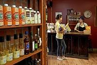 Canada, Quebec Province, Quebec City, Cartier street, Morena luxury grocery, oils