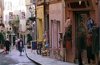 France, Alpes Maritimes, Grasse, Rue Amiral street