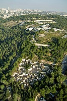 Aerial photograph of Yad VaShem in Western Jerusalem