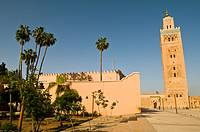 Jamaa Al Koutoubia, the famous mosque in Marrakesh,Morocco