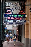 The Pearl oyster bar and restaurant, Central Business District, New Orleans, Louisiana, USA