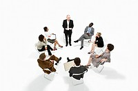 A group of business people in a meeting