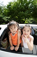 Children in a car
