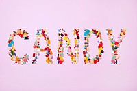 Candies spelling the word CANDY