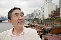 Low angle view of a smiling senior man (thumbnail)
