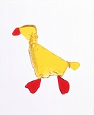 Representation of a duck on white background