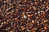 Brown stones.