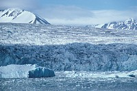 Massive tidewater glacier, at head of Lilliehook Fjord, Spitsbergen, Svalbard