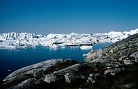 Glacier _ Greenland Jakobshavn Glacier