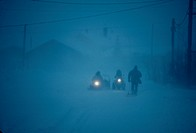 Blizzard people /vehicles / MC Grath,Alaska /