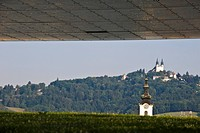 View from the Museum of Modern Art at Poestlingberg, Linz, Upper Austria, Austria