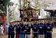 Trail of strength, Peach Festival, Nirasaki_Shi, Yamanashi, Chubu, Honshu, Japan