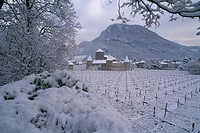 Maretsch castle in a winter landscape, Bolzano, South Tirol, Italy