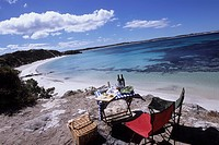 Picnic at Vivonne Bay, Kangaroo Island, South Australia, Australia